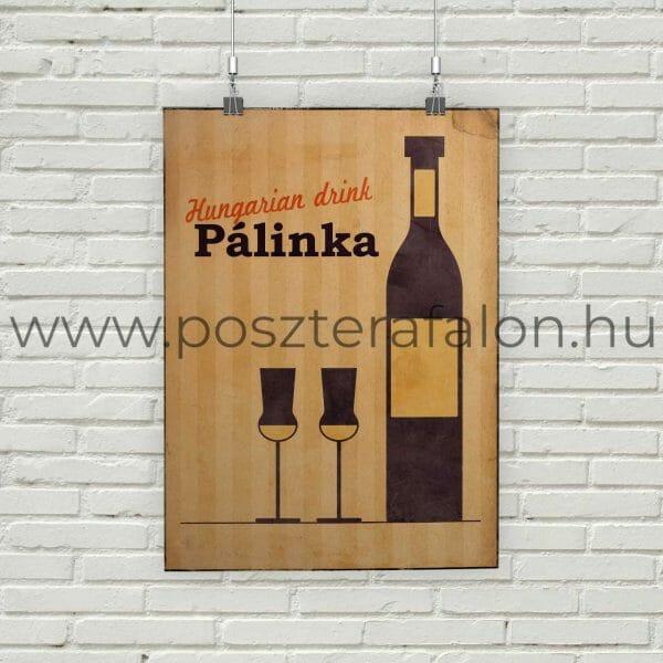 Hungarian drink pálinka vintage poszter, falikép, fali dekoráció, lakberendezés, faldíszítés, ajándék ötlet