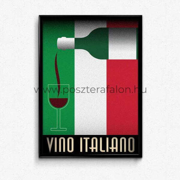 Olasz bor Art deco poszter