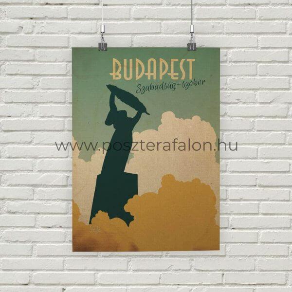 Budapest Szabadság-szobor vintage poszter