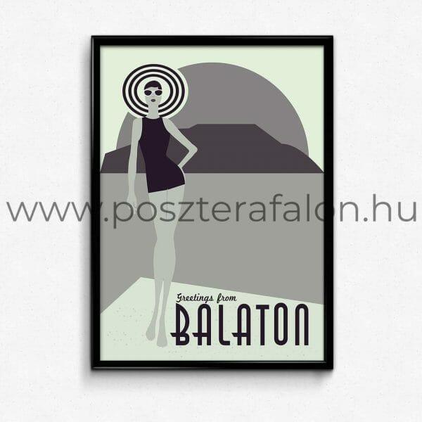 Balatoni retró poszter, falikép, fali dekoráció, lakberendezés, faldíszítés, ajándék ötlet